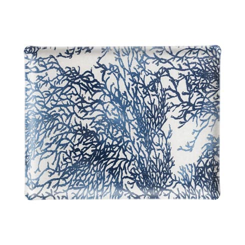 Casafina   Medium Rect. Tray, Blue $159.00