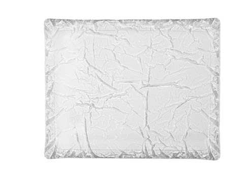 $195.00 Medium Rect. Tray, Frosted