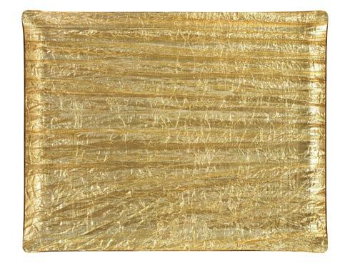 $250.00 Medium Rect. Tray, Gold
