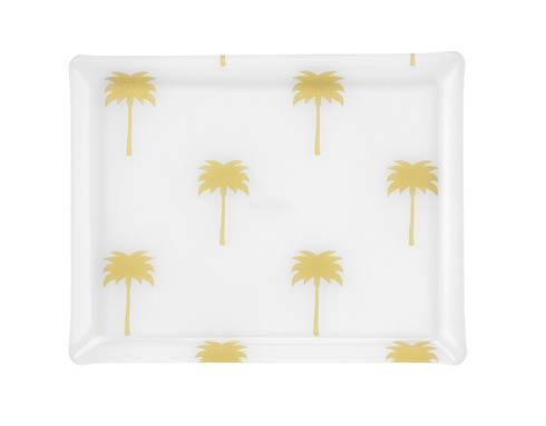 $159.00 Medium Rect. Tray, Palm Gold