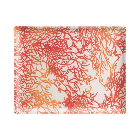$159.00 Medium Rect. Tray, Red