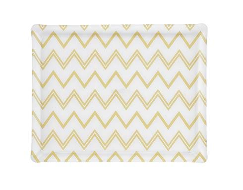 $159.00 Medium Rect. Tray, Wave Gold