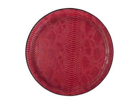 $59.00 Medium Round Tray, Red