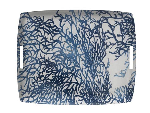 Casafina   Large Rect. Tray, Blue $189.00
