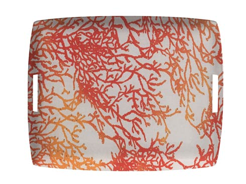 $189.00 Large Rect. Tray, Red