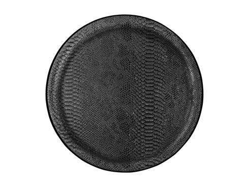 $75.00 Large Round Tray, Black
