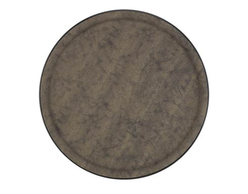 $75.00 Large Round Tray, Brown