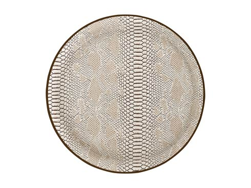 Casafina  Relief Large Round Tray, Caramel $75.00