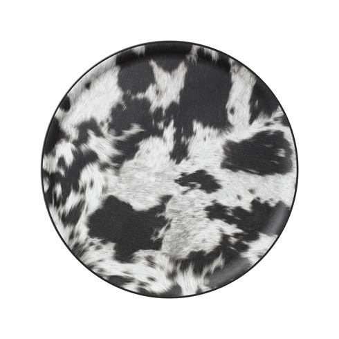 $75.00 Large Round Tray, Cow