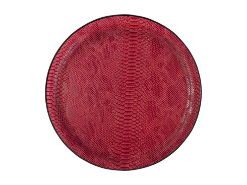 $75.00 Large Round Tray, Red