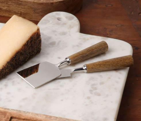 Casafina  Cheeseboards & Cheese Knives Set/2 Cheese Knives, Mango Wood $19.75