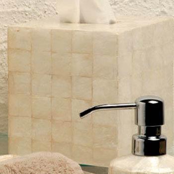 Casafina  Organic Bath - Pearl Capiz Boutique Tissue Box $50.50