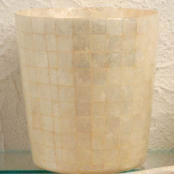 Casafina  Organic Bath - Pearl Capiz Wastebasket $99.00
