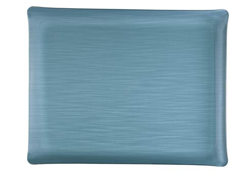 Casafina  Solid Small Rect. Tray, Blue $125.00
