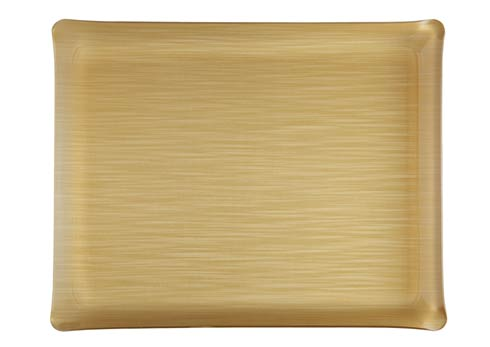 $125.00 Small Rect. Tray, Gold
