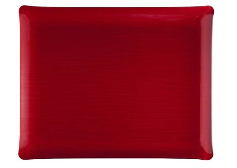 $125.00 Small Rect. Tray, Red