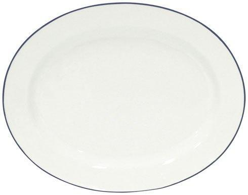 "Costa Nova  Beja - White-Blue Oval Platter 16"" $77.50"