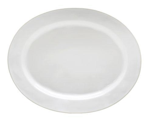 "Costa Nova  Beja - White-Cream Oval Platter 16"" $77.50"