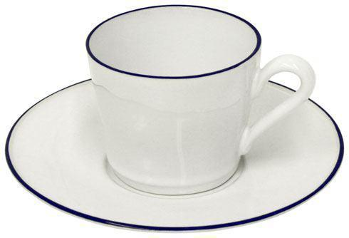 Costa Nova  Beja - White-Blue Tea Cup and Saucer 6 oz. $33.50