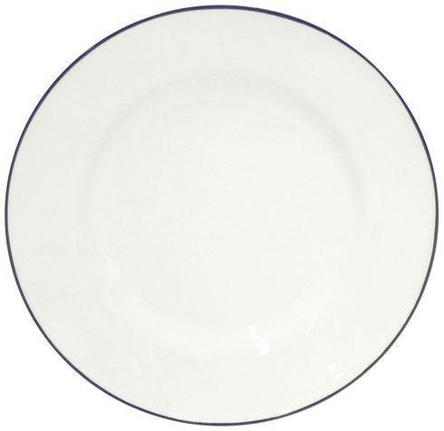 "Costa Nova  Beja - White-Blue Salad/Dessert Plate 9"" $25.00"