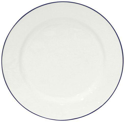"Costa Nova  Beja - White-Blue Dinner Plate 11"" $30.00"