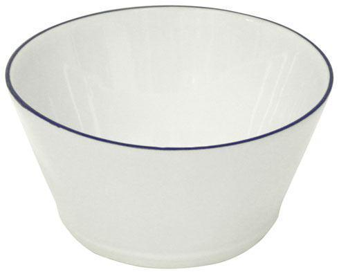 "Costa Nova  Beja - White-Blue Soup/Cereal Bowl 6"" $20.00"
