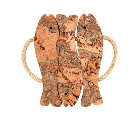 Casafina  Cork Collection 3-Fish Trivet W/Rope Handles $24.00