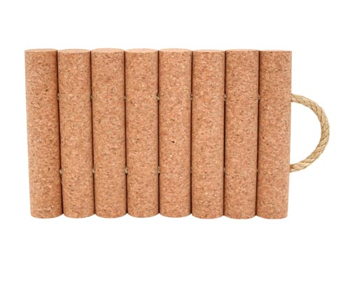 Cork Collection 8-Raft Trivet W/Rope Handles