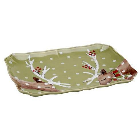 "Casafina  Deer Friends Rect. Platter 14"" $64.00"