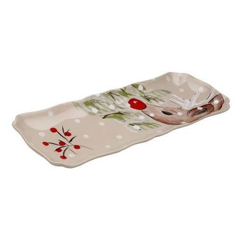 Casafina  Deer Friends Rectangular Tray $55.00