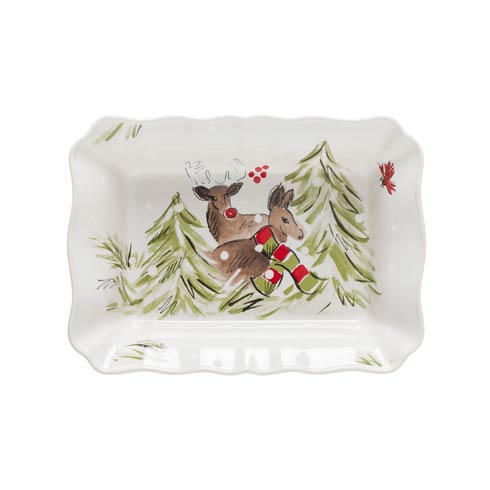 Casafina  Deer Friends Medium Rect. Baker White $53.00