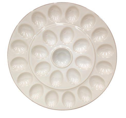 Casafina  Cook & Host - Cream Egg Platter, Cream $46.00