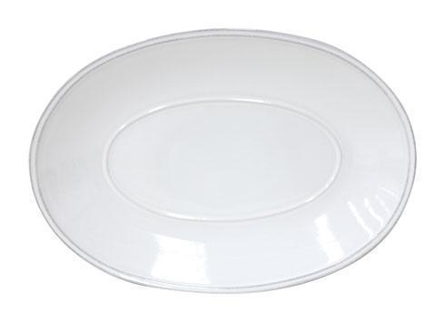 "Costa Nova  Friso - White Oval Platter 12"" $44.00"