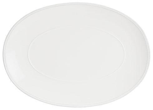 "Costa Nova  Friso - White Oval Platter 16"" $62.00"