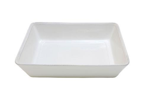 "Costa Nova  Friso - White 9.75"" Rectangular Baker $38.50"