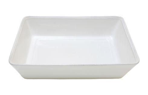 "Costa Nova  Friso - White 14.75"" Rectangular Baker $59.00"