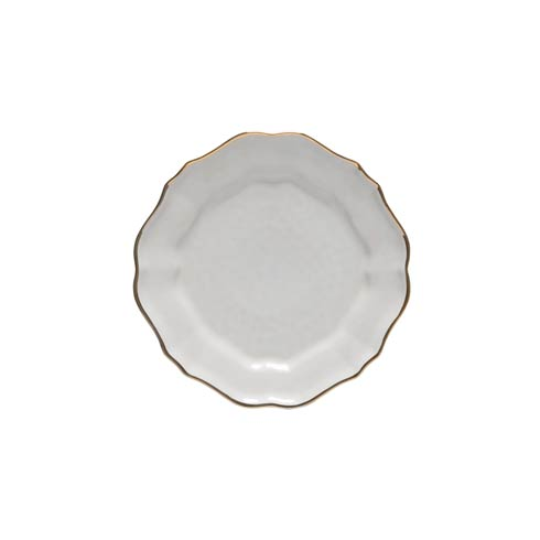 Casafina  Impressions - White & Gold Salad Plate (6) $24.00