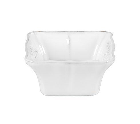 "Costa Nova  Alentejo - White Square Bowl 5"" $16.00"