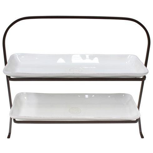 Costa Nova  Nova - White 2 Tier Trays With Stand $86.00