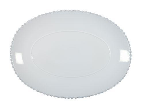 "Costa Nova  Pearl - White 15.75"" Oval Platter $66.00"