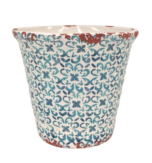 Casafina  Piastrella - Blue Large Flowerpot $67.00