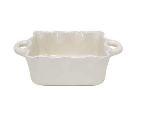Casafina  Cook & Host – Cream Square Ruffled Baker $43.00