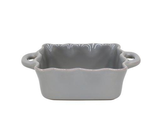 Casafina  Cook & Host – Gray Square Ruffled Baker $43.00