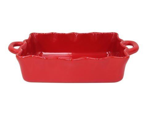 Casafina  Cook & Host – Red Med. Rect. Ruffled Baker $64.00