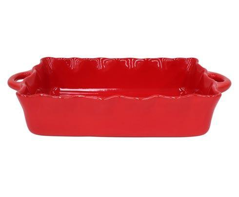 Casafina  Cook & Host - Red Lg. Rect. Ruffled Baker $70.50