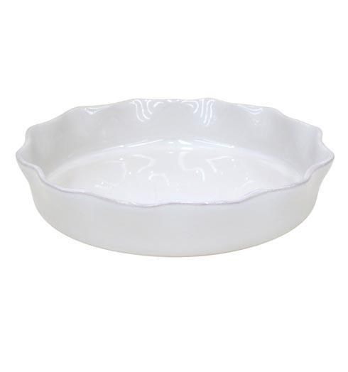 Casafina  Cook & Host - White Ruffled Pie Dish $50.50