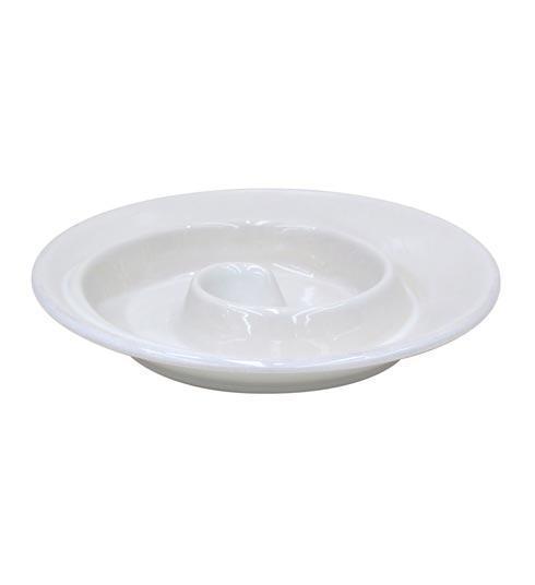 "Casafina  Cook & Host - White Spiral appetizer Dish 8"" $23.00"