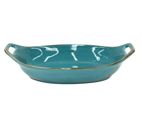 "Casafina  Sardegna - Blue Oval Baker 13"" $54.50"