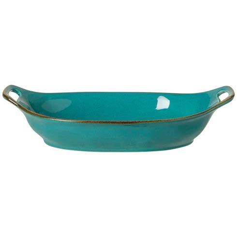 Sardegna - Blue Large Oval Baker