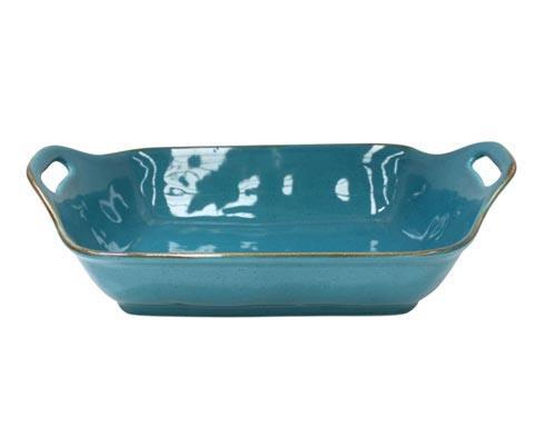 "Casafina  Sardegna - Blue Rect. Baker 16"" $65.00"